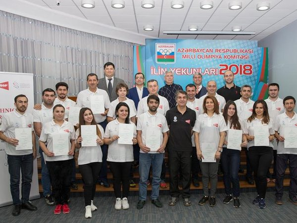 "The participant certificates were presented to the coaches who participated in ""Level 1"""